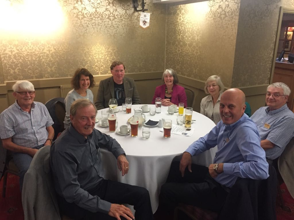 Exchange Visit to Carnforth Rotary - Enjoying the conversations