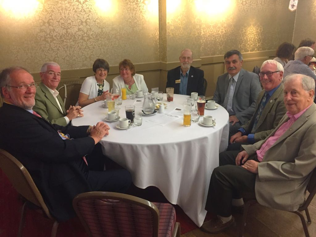 Exchange Visit to Carnforth Rotary - Members from each club were seated at each table