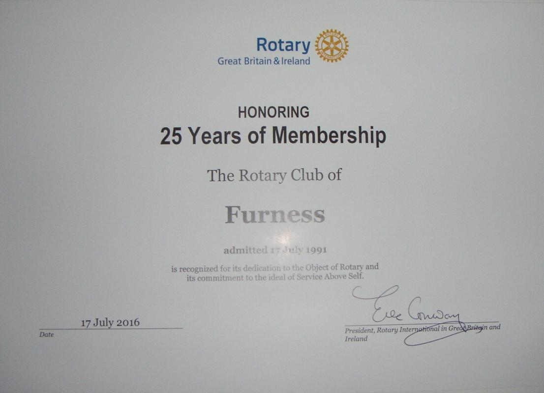 Banners - Certificate from RIBI President