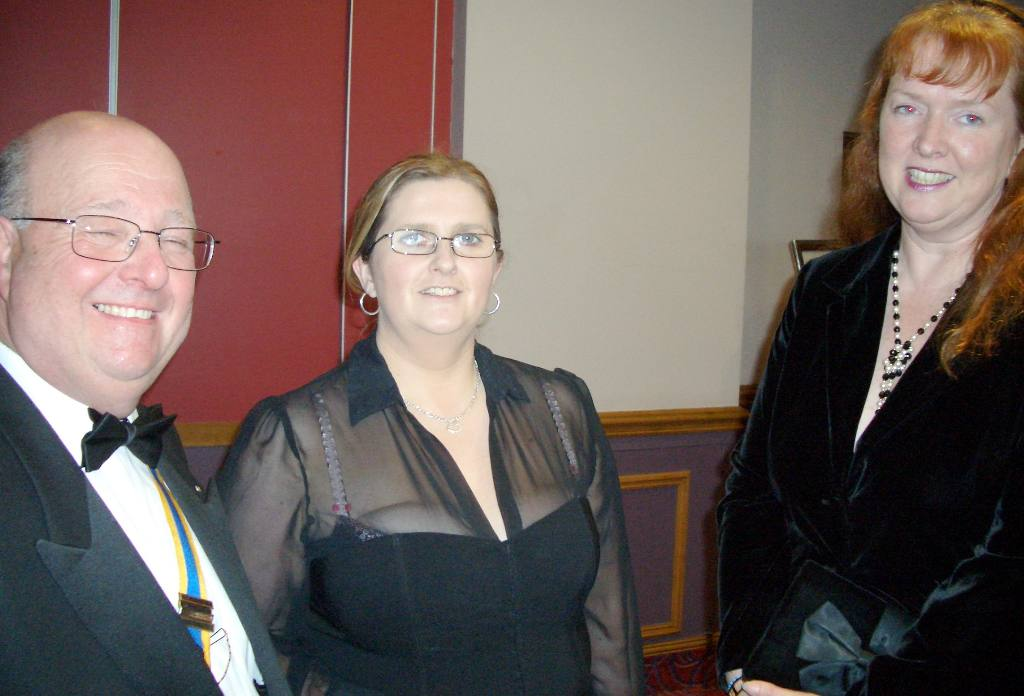 Charter Night 2008 - President Bill with guest Sharon Kissack and Rotarian Ann Reynolds