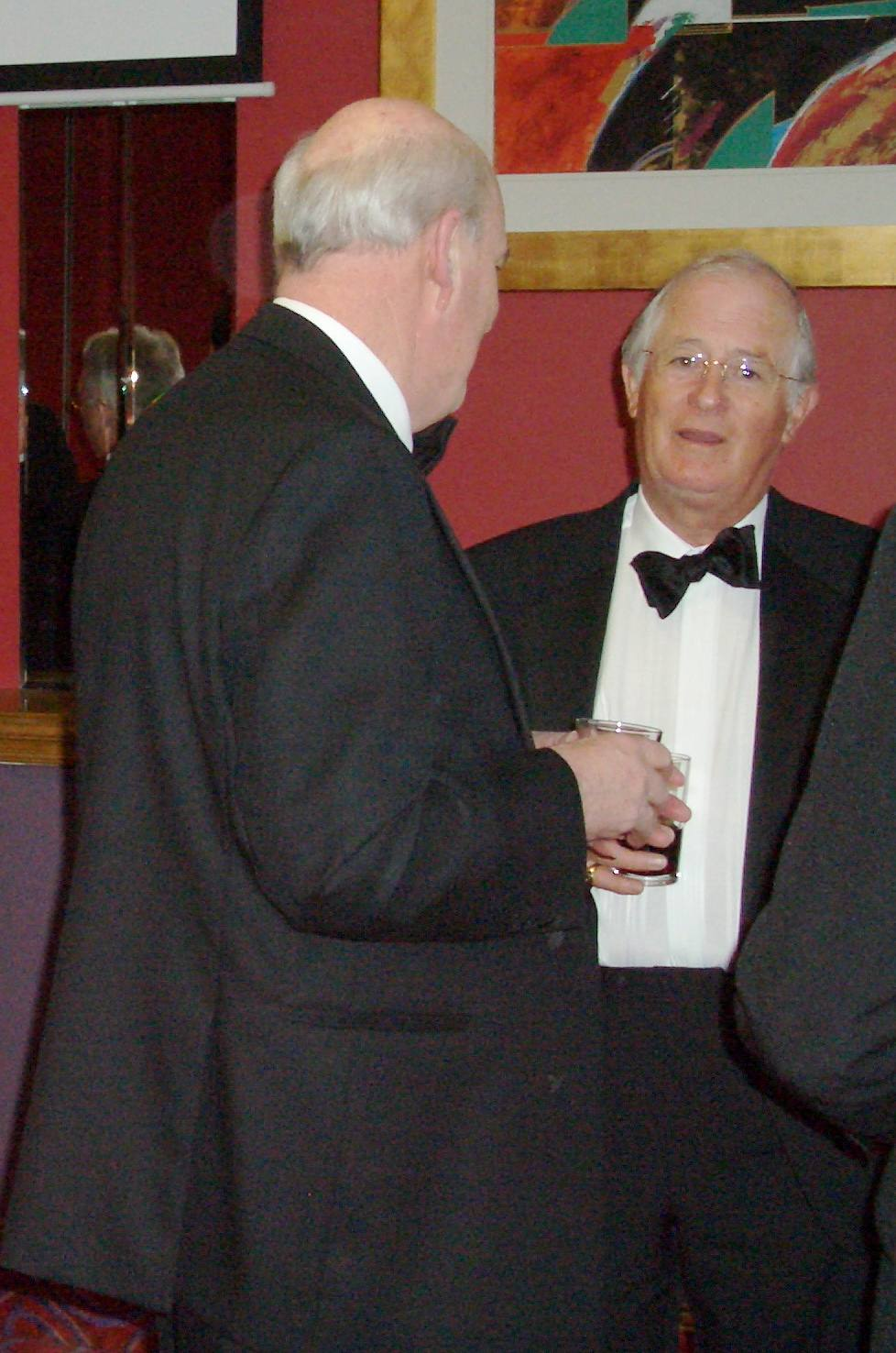 Charter Night 2008 - His Excellency in conversation with Rotarian Brian Partington