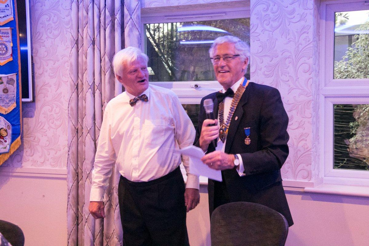 44th Charter Celebration Dinner & Handover - VP Neil congratulates President Ian on his very good year