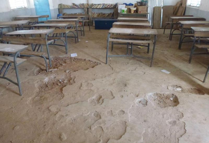 Community work in Senegal - classroom without tiles