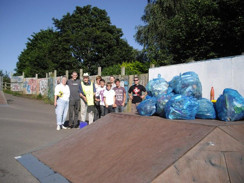 Wells Skate Board Park Re-Opening Ceremony - clean-up