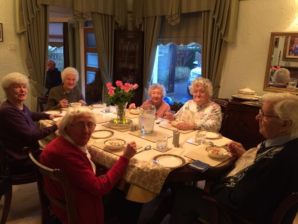 What we do - We hold monthly tea parties for elderly people who don't get out very often.