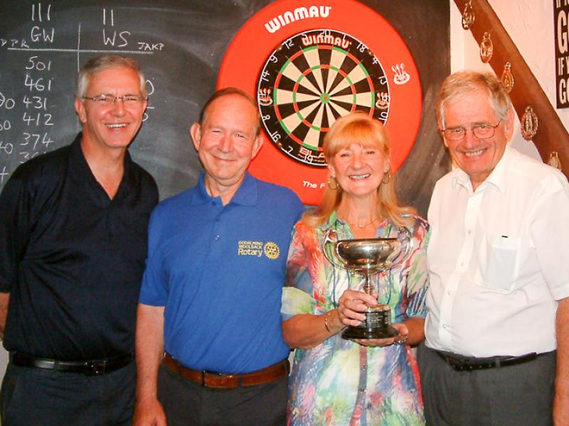 Social and Sports - Our winning team in the 2015 district darts competition