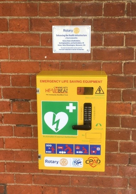 Community Public Access Defibrillators installed -
