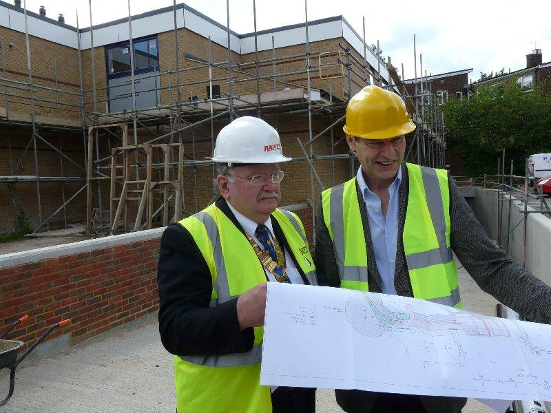 About Our Club - Past President Duncan Peacock at the building of the new Demelza House children's hospice.