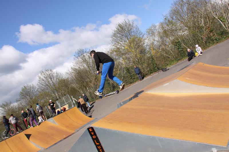 Wells Skate Board Park Re-Opening Ceremony - demonstartion