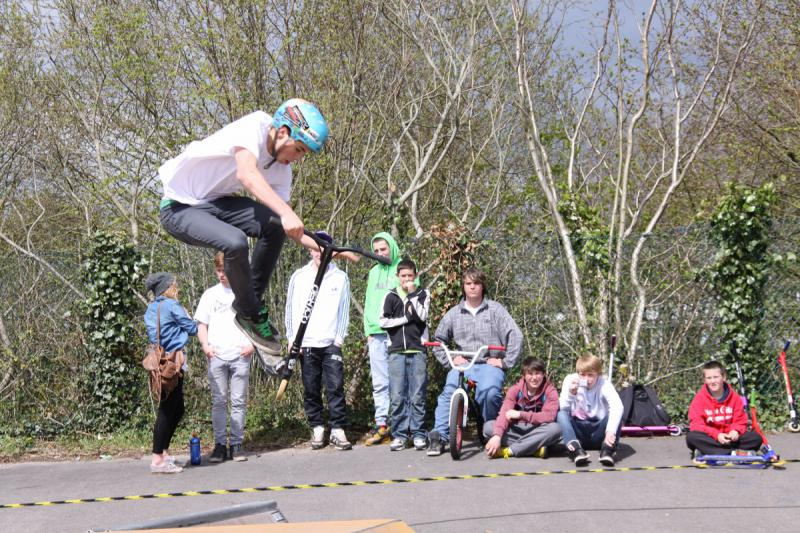 Wells Skate Board Park Re-Opening Ceremony - demonstration-b