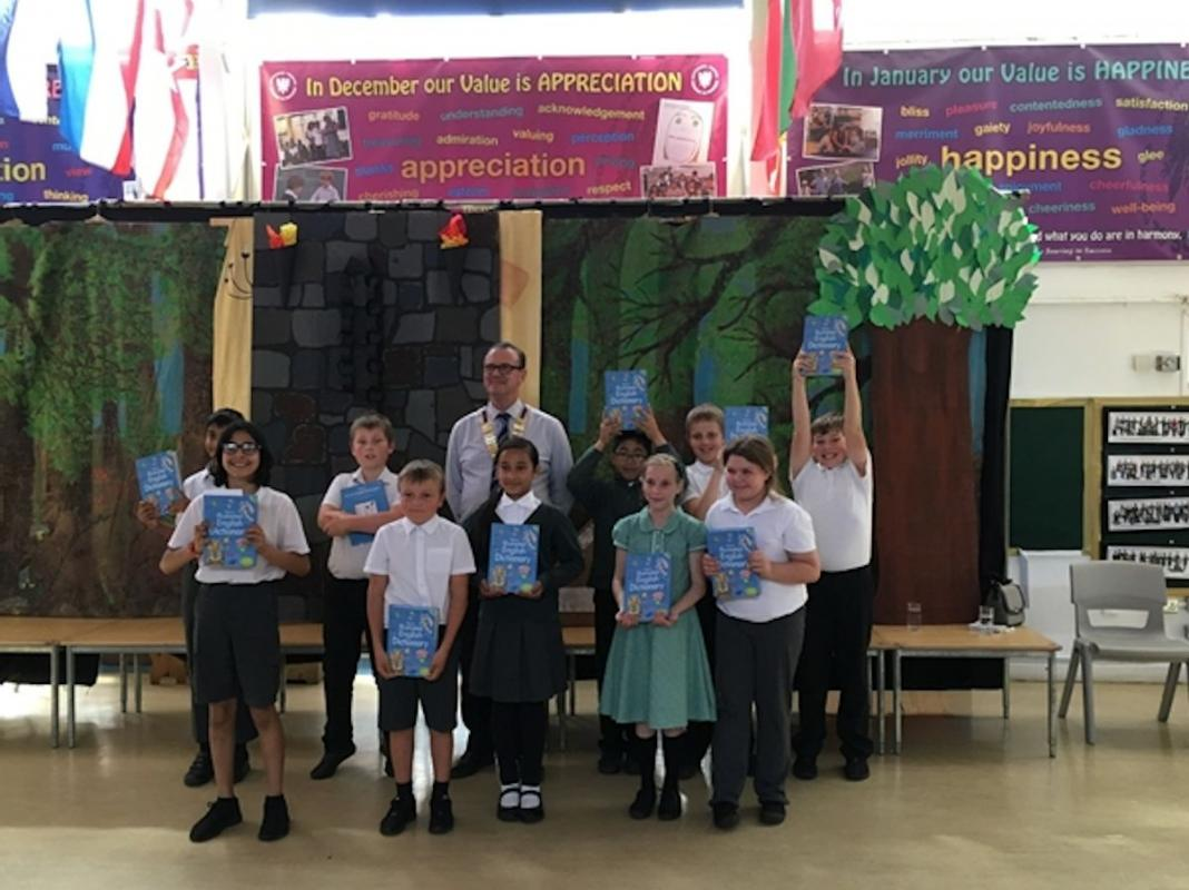 Presentation of Dictionaries to pupils at Micklands School - Presentation of Dictionaries to pupils at Micklands School​