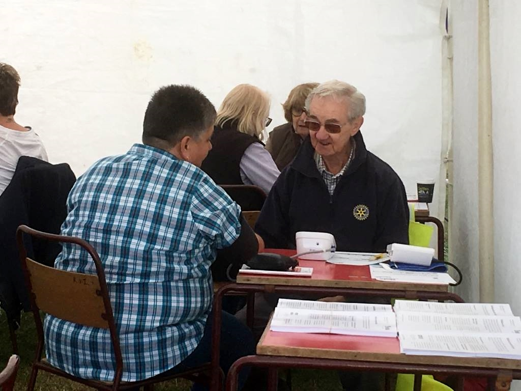 Blood Pressure Screening at Wensleydale Show 2018 - discussion with the doctor