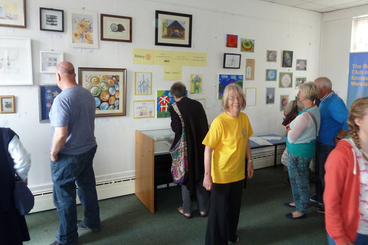 Eccleshall Festival 2016 Open Art Awards Competition results - & Hilary Ball, Organiser