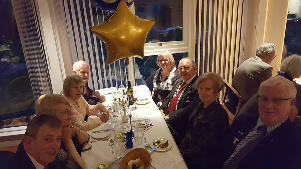 The Rotary Club of Glenrothes -  60th Anniversary - edgars table