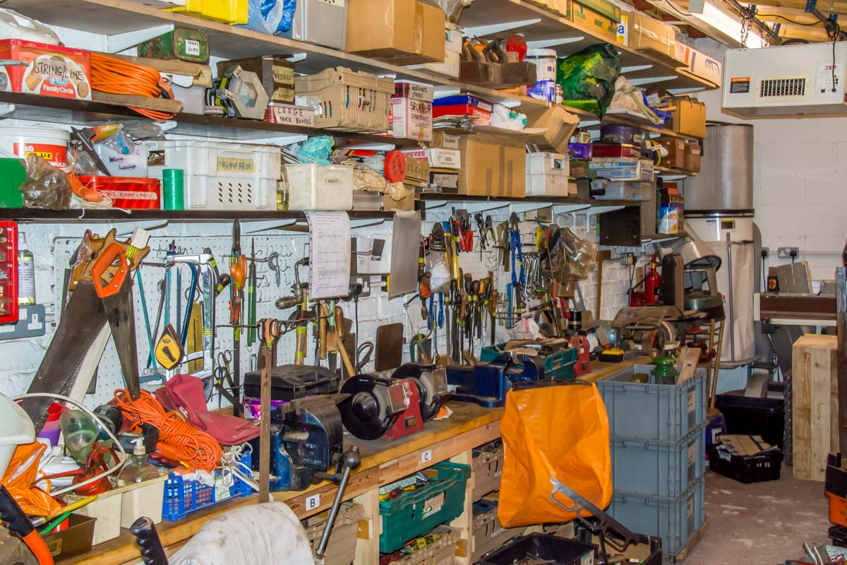 Tools For Self Reliance - The workshop where the tools are repaired and packed.