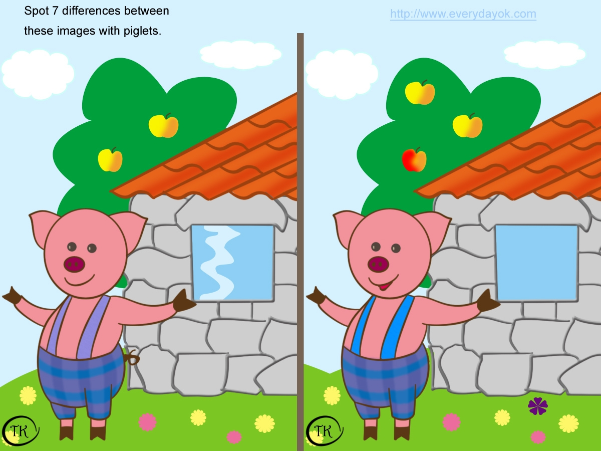 Challenges - Sat 17th Oct Challenge 2 Spot the 6 differences
