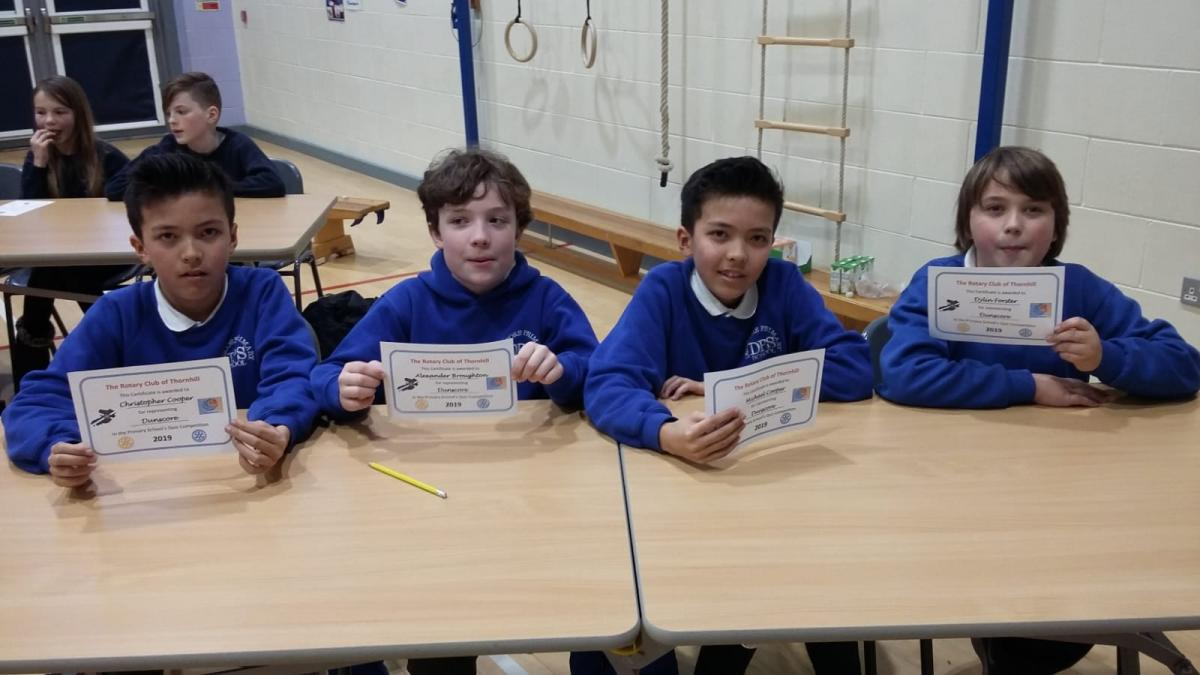 Rotary Primary School Quiz Club Heat 2019 - Dunscore Primary School Team