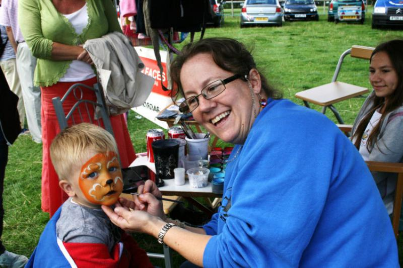 St Asaph country Fayre 2013 - face paint
