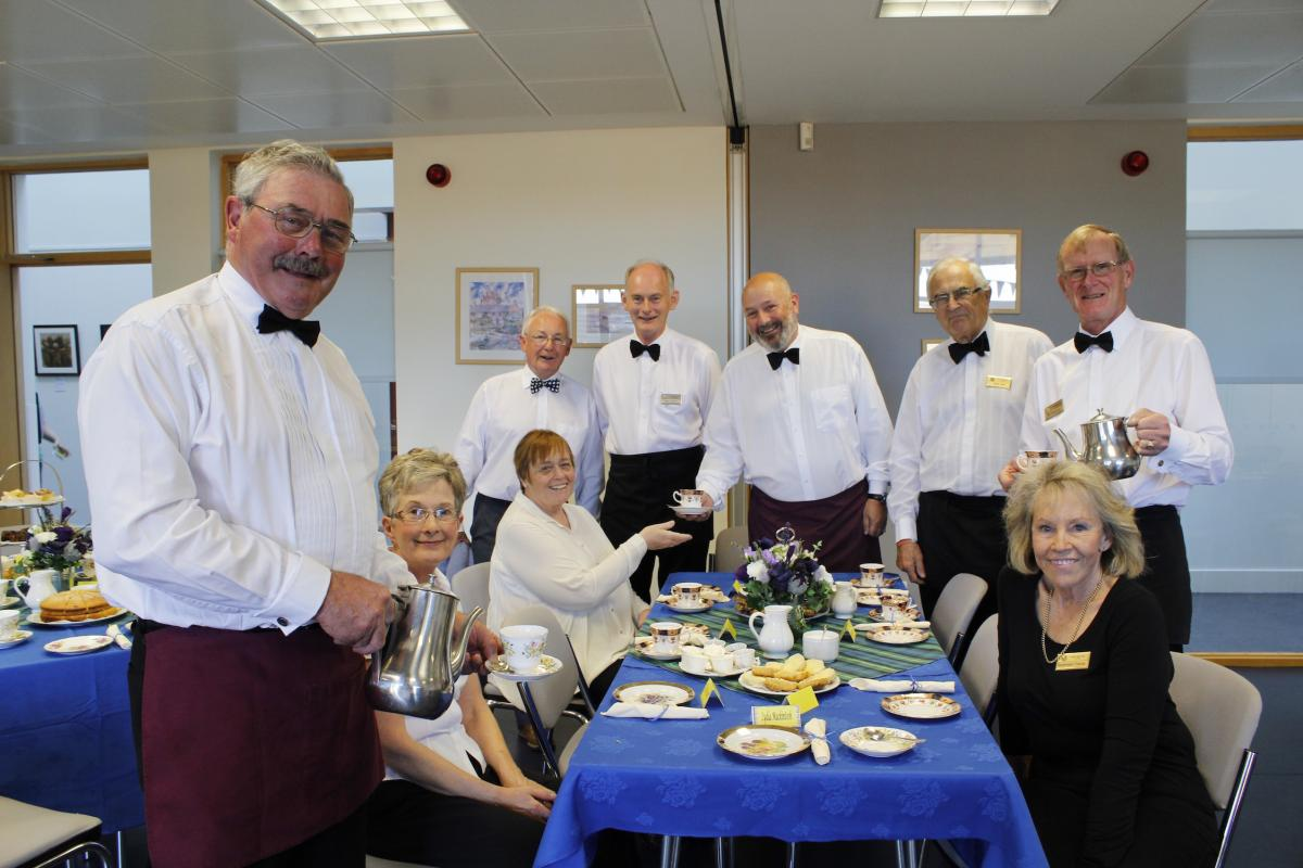 Photo Galleries - Rotarians acted as waiters for this fundraising event, ably supported by the ladies of the Inner Wheel