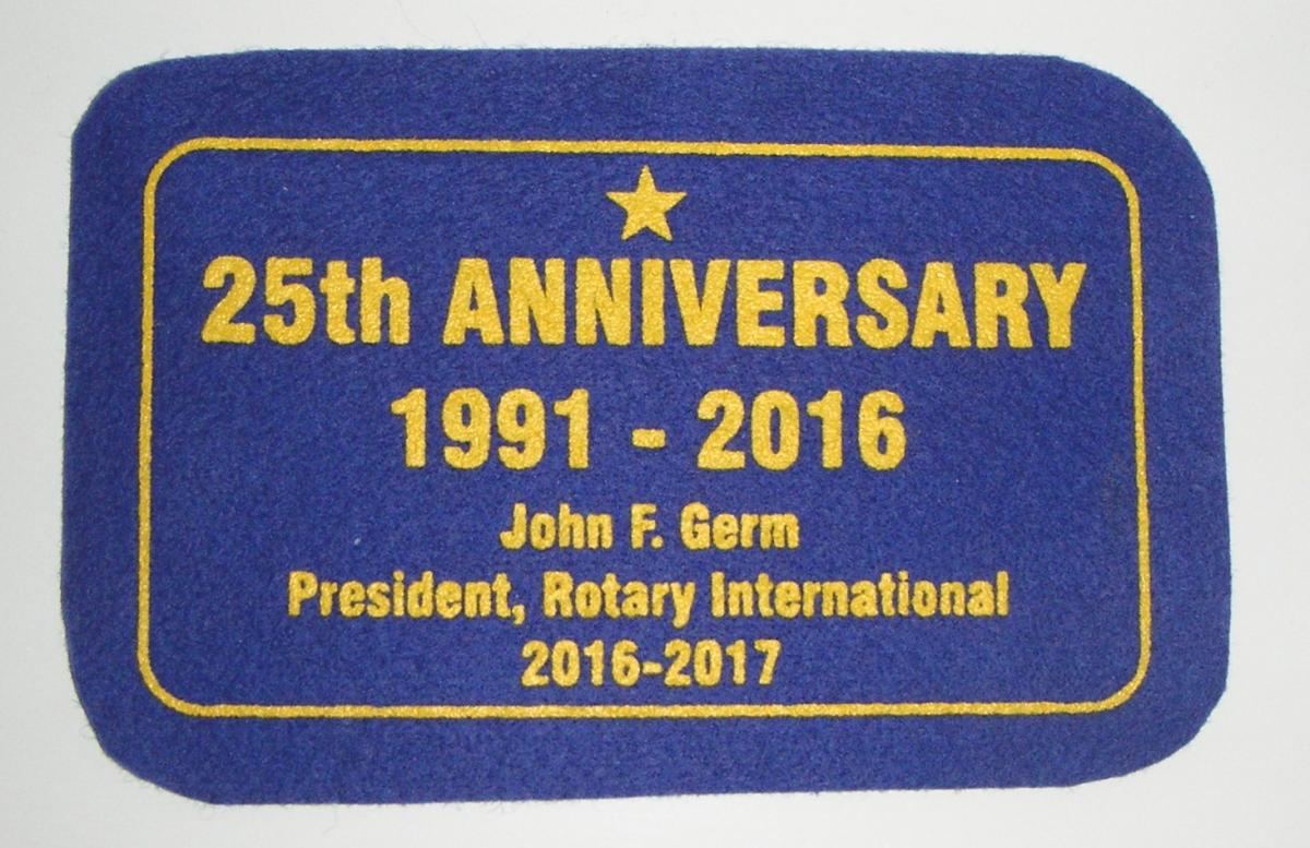 Banners - gift from RI President John Germ
