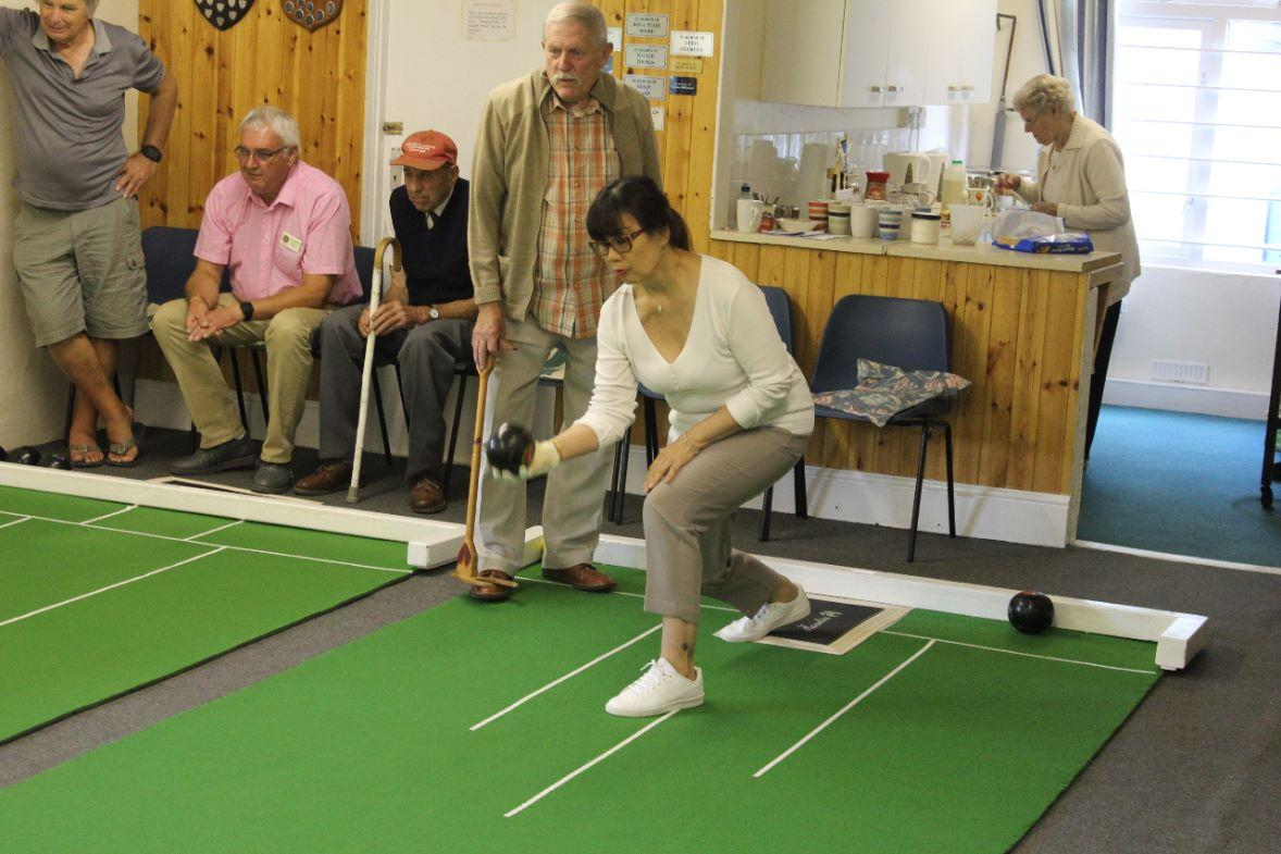 Bugle Blues Bowling Club  - full concentration