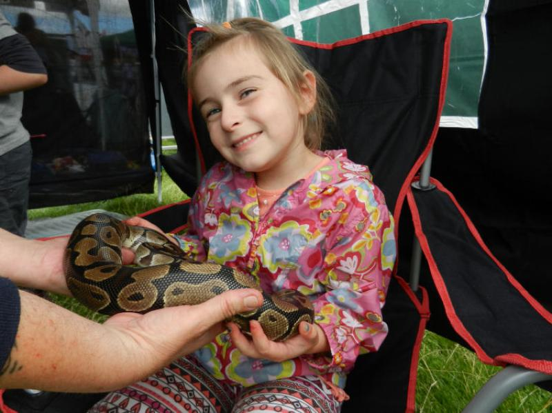 St Asaph country Fayre 2013 - girl-snake