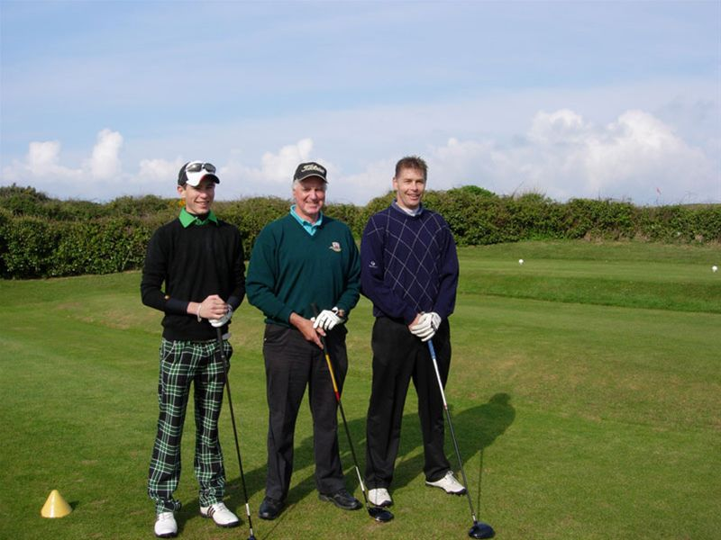 Golf Day 2010 - Adam and Adrian Blake with Brian