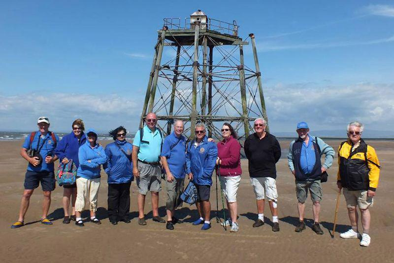 Photo Album - July/August 2014 - The Rotary party reach the Wyre Light