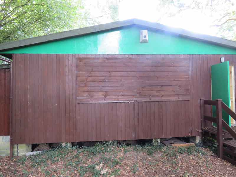 Crowhurst Playgroup - The new storage area will be built at the back of the hut with access from the hut itself.