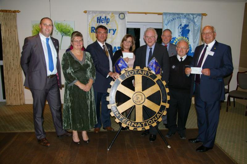 Charity Cheques Presentation 2013 - group