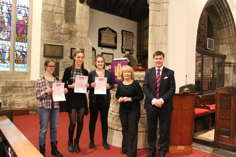 Young Musician Competition 2016 - Competitors, organisers and adjudicator of the Area Final.