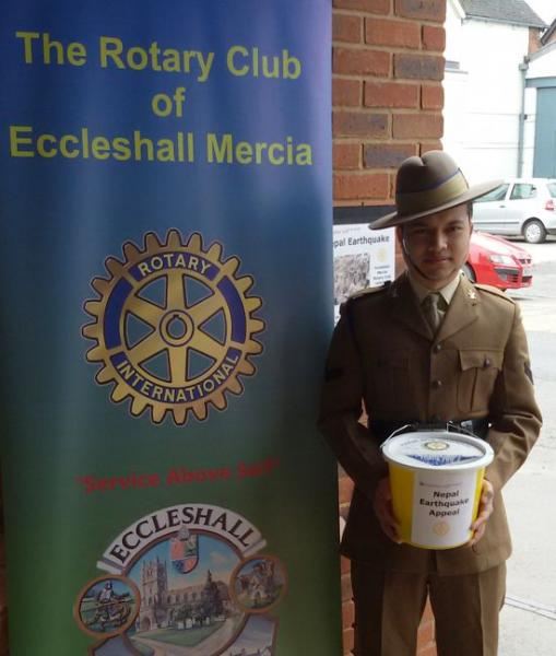 Great response to Nepal Earthquake Appeal Collection 2nd May - The Rotary Club of Eccleshall Mercia had a bucket collection at the Co-operative Supermarket in Eccleshall 2nd May 2015