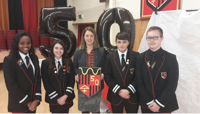 Glenrothes High School 50th Anniversary - head boy and girl