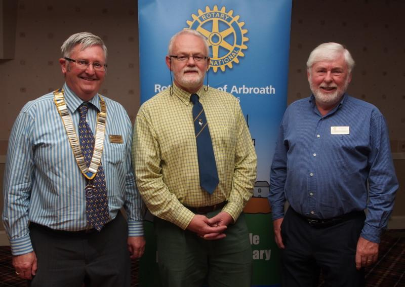 Club Photo Gallery July 2015 to June 2016 - Kevin (Centre) spoke about Acupuncture. He was introduced by Member Bruce Currie and President David Miller is on the extreme left