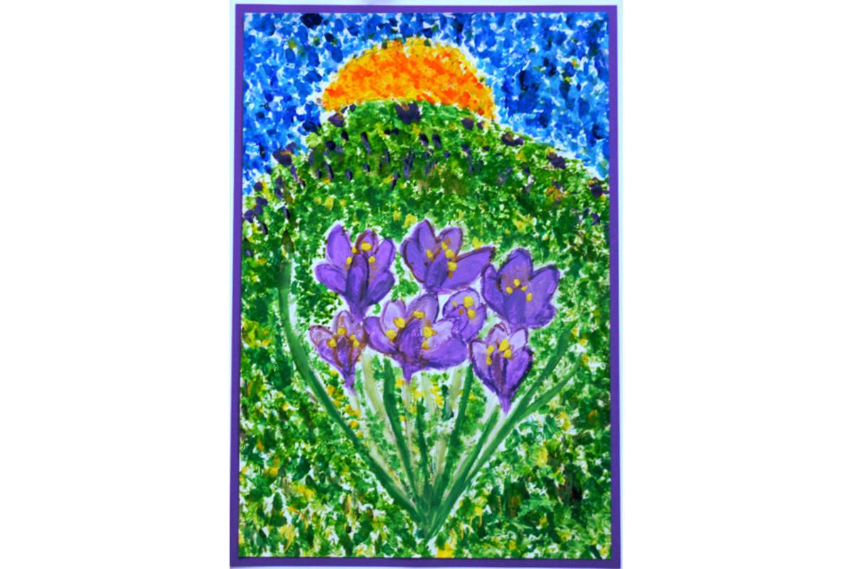 Winners of the Purple4Polio Art Award  - by Merle Robertson, age 7, Woodstock C of E Primary School