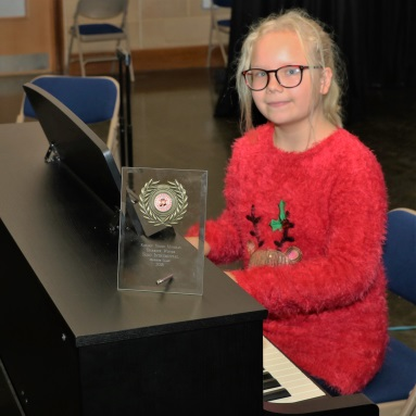 Students bang the drums at the Rotary Young Musician competition -