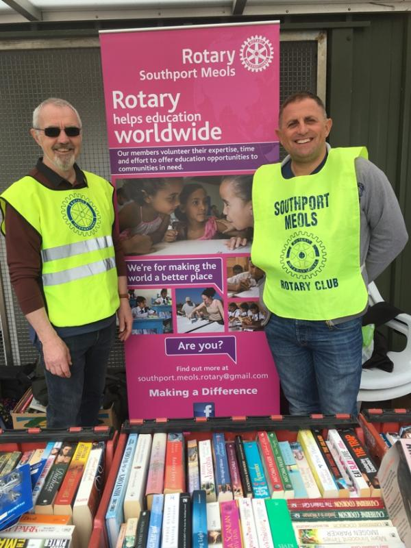 Book sale (The Never Ending Story) - Raising funds at the recent car boot sale, August Bank Holiday Monday at Tesco Kew, £60 raised for Rotary good causes.