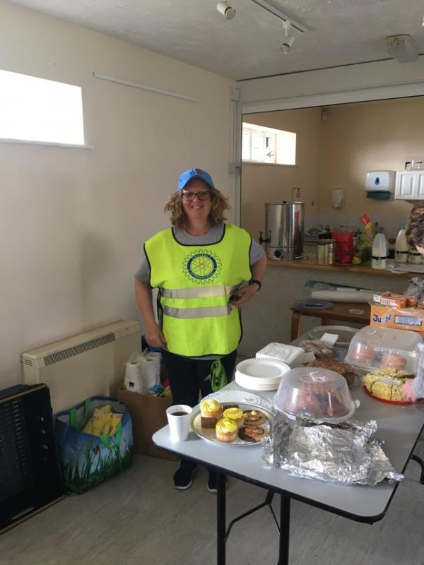 Latest News  - Rtn Sue helping on the RSPCA cake stall
