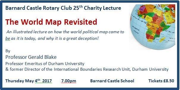 gerald blake rotary public lecture the world map revisited prof gerald blake
