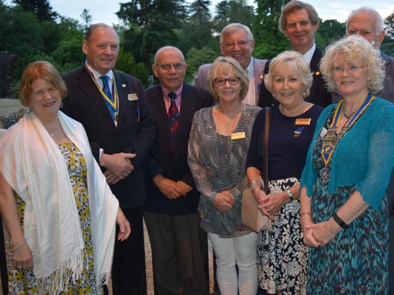 20th Anniversary Celebration & Presidential Handover in pictures - Nine past Presidents of the Rotary Club of Crowthorne & Sandhurst