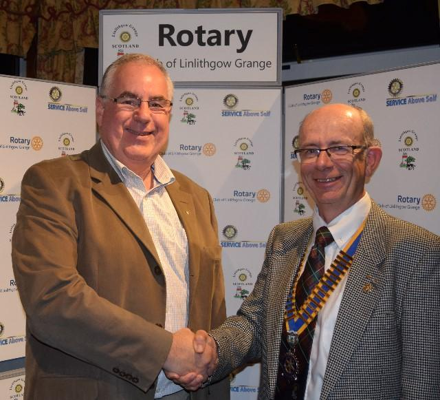 New Members 2017 - President Harry welcomes the newest club member David Wells on 1th September.