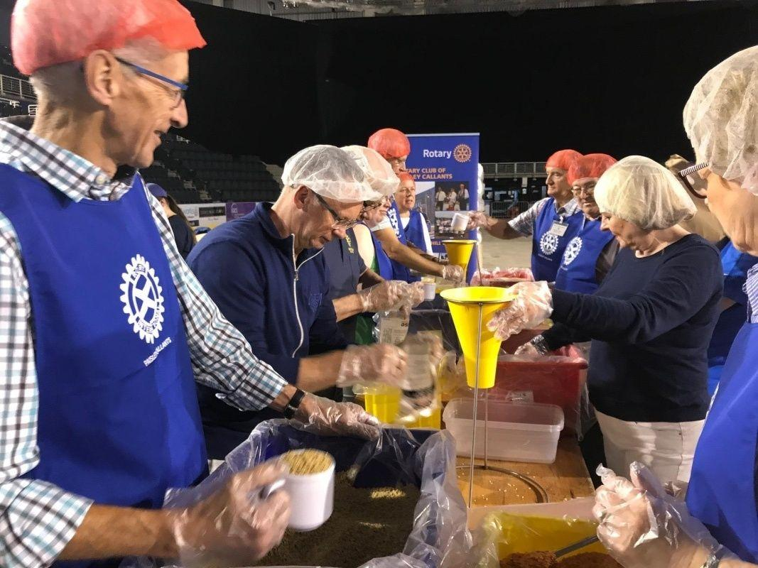 Rise Against Hunger - Paisley Rotarians in action