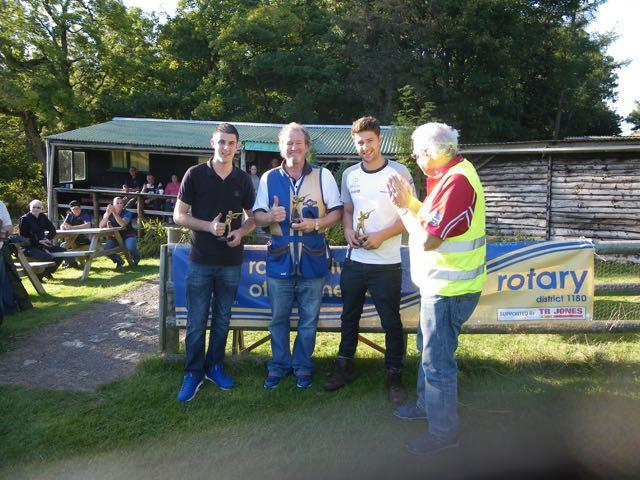 2015 Annual Clay Pigeon Shoot 26th September 2015 - President Clive McGregor presenting the winning team