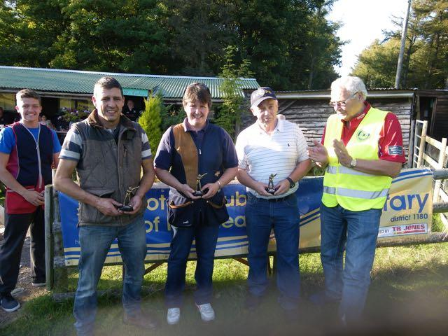 2015 Annual Clay Pigeon Shoot 26th September 2015 - President Clive makes the presentation to the second placed team