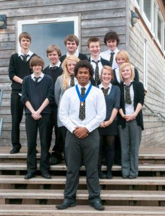 Newent Interact Club - The President and Members of Newent Interact Club at their Inaugural Meeting.
