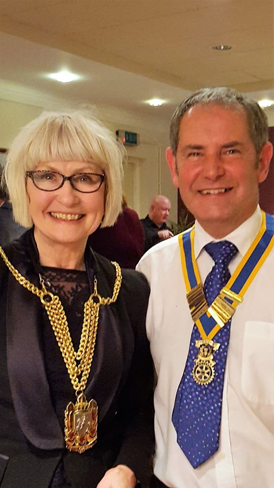 The Rotary Club of Glenrothes -  60th Anniversary - kay morrison and brian