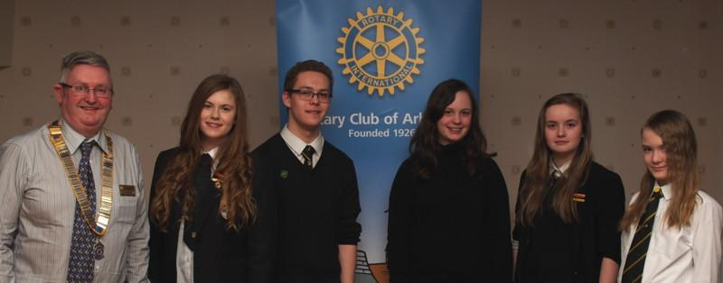 Club Photo Gallery July 2015 to June 2016 - Students from Arbroath Academy visited the club in February 2016 and spoke about their studies and activities focusing on Leadership
