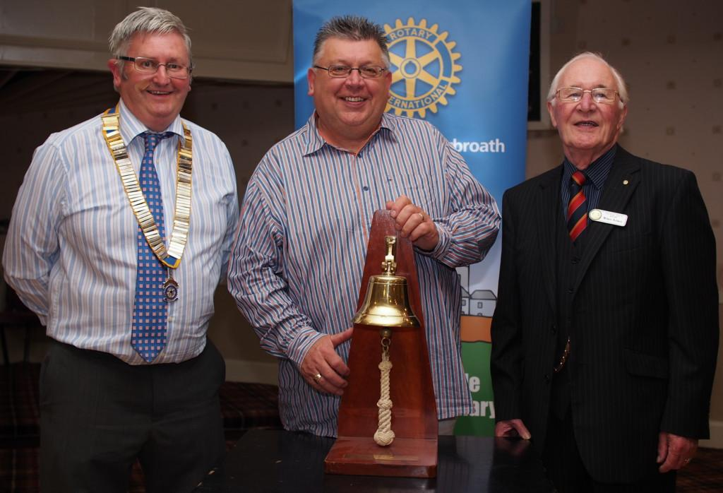 Club Photo Gallery July 2015 to June 2016 - Mark Masson was the final speaker in June 2016. L-R David Miller, Mark Masson, Wilson Robson