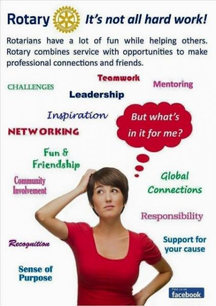 Come and Join us - Rotary -  its not all hard work !