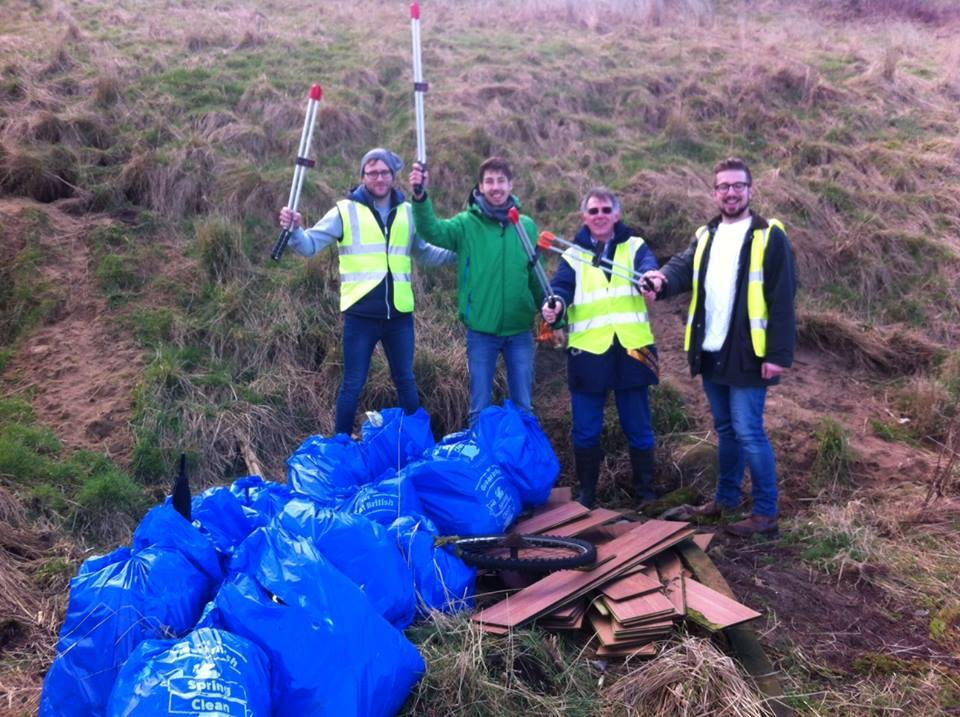 Rotaract & Rotary in Action - Rotaract Quarterly Litter Pick - This is just part of the team as there were 11 of us here today.